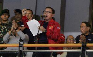 Ketum PSSI saat pembukaan Liga 2
