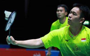Pasangan juara bertahan, Hendra Setiawan/Mohammad Ahsan