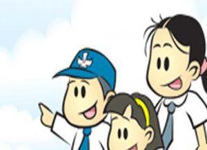 Ilustrasi siswa sekolah