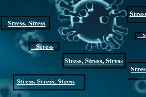 Ilustrasi stress imbas Covid-19.