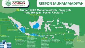 Sebaran rumah sakit milik Muhammadiyah.