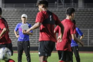 Sesi latihan Timnas Indonesia