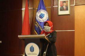 Rektor UMBY saat melaunching Sistem Informasi Akademik UMBY.