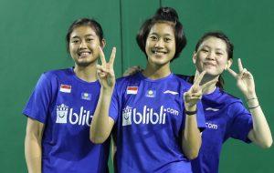 Beberapa atlet putri junior Indonesia.