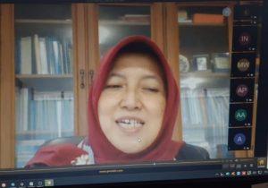Rektor UMBY saat syawalan secara daring.