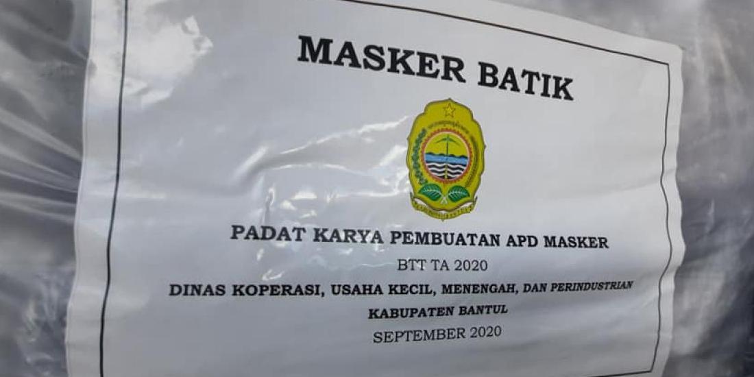 Masker produksi UMKM Bantul