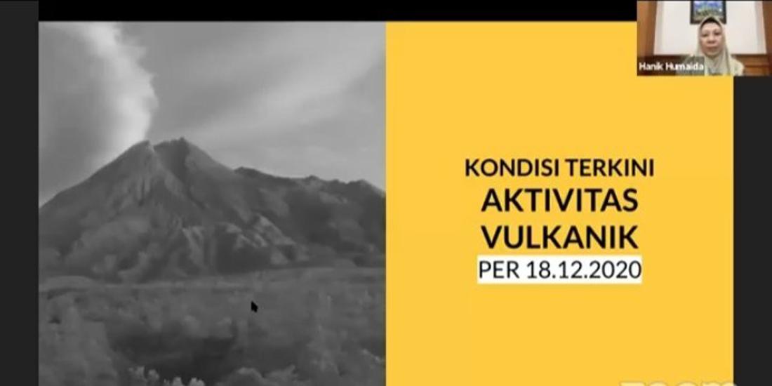Screanshot siaran informasi terkini Gunung Merapi oleh BPPTKG