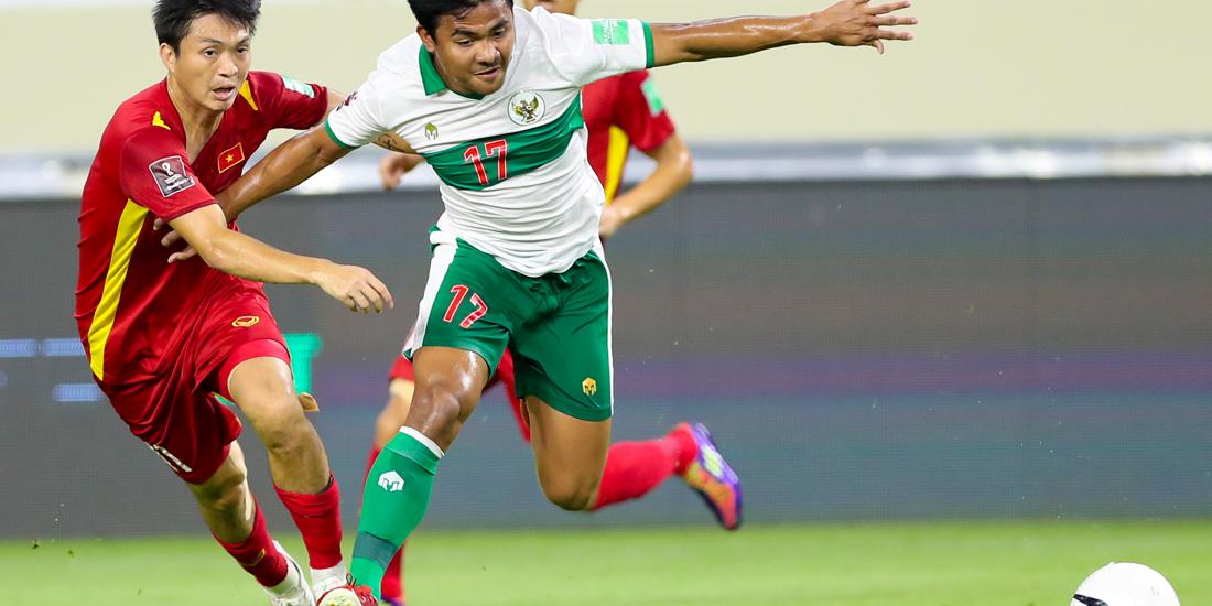 Timnas Vietnam terus menekan pasukan Indonesia lewat permainan cepat