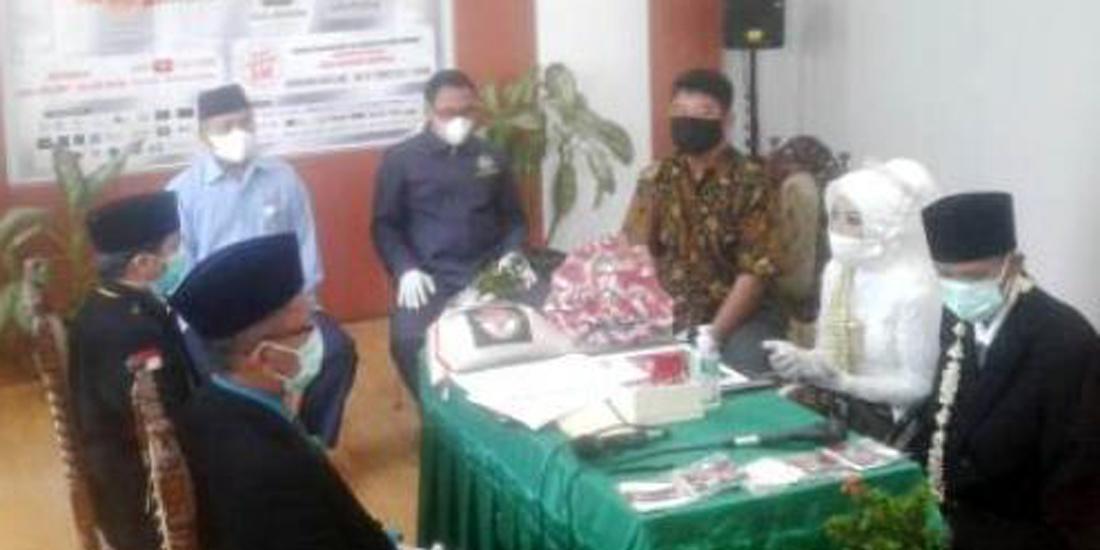 Prosesi nikah bareng 5 pasangan mempelai, di KUA Sewon, Bantul