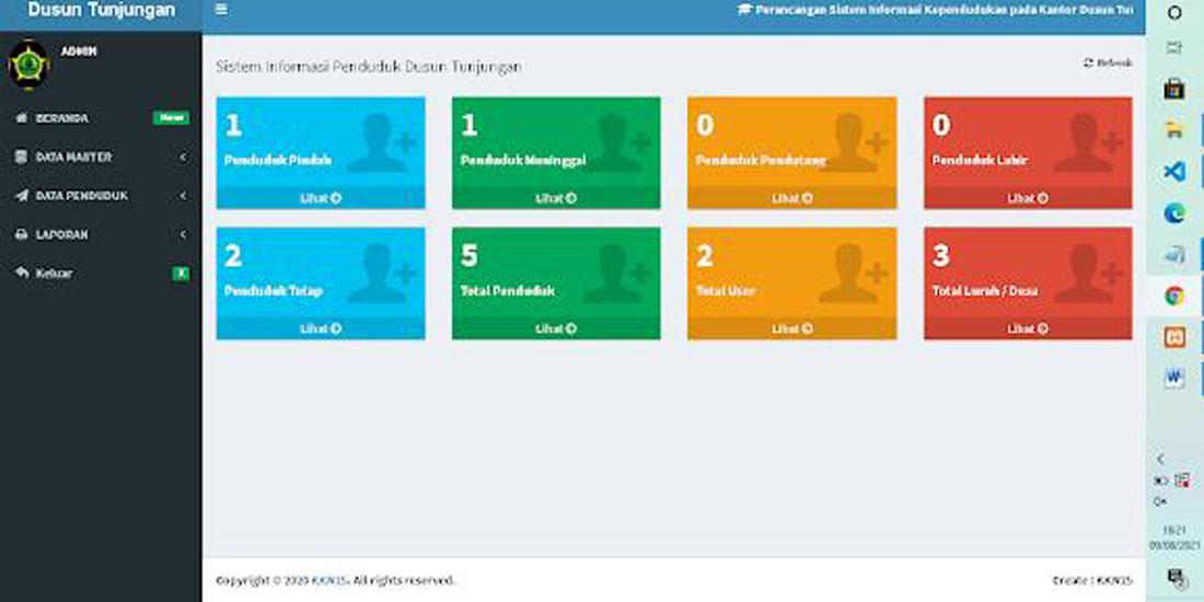 aplikasi berbentuk website untuk pendataan penduduk