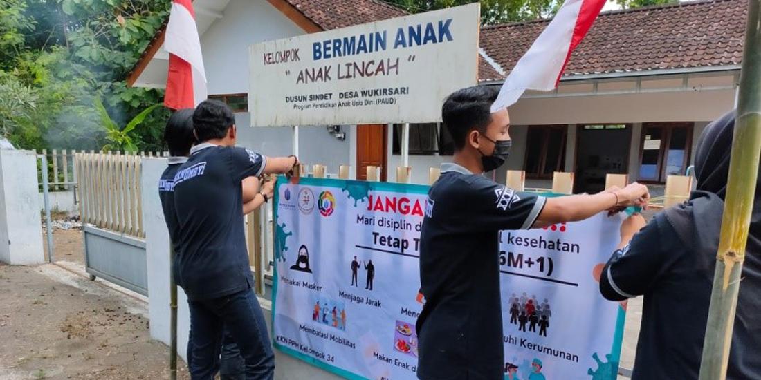 KKN 34 UMBY Sosialisasi Cegah Covid