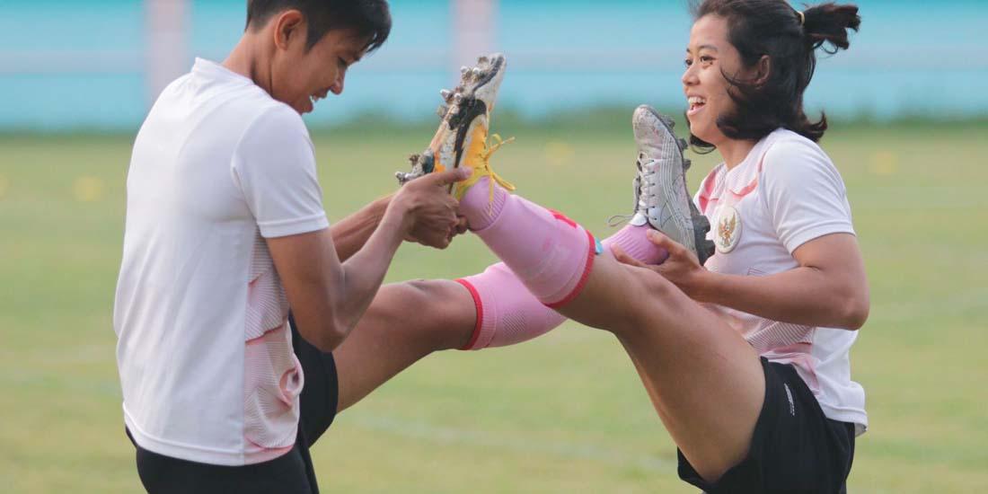 Garuda Pertiwi Digeber Latihan Fisik